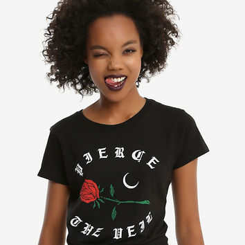Pierce The Veil Rose Logo Girls T-Shirt