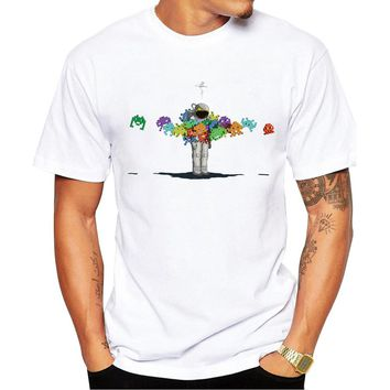 New 2018 Summer Fashion Design printed Personal Space Invaders T Shirt Men's High Quality Tops Hipster tees O-Neck T-shirts