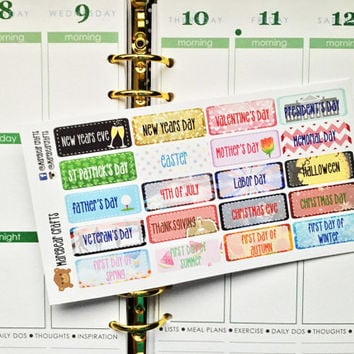 20 Holiday Sticker Set! Perfect for your Erin Condren Life Planner, Plum Paper planner and other planner/agenda!
