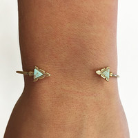 Try As You Might Bracelet-Turquoise