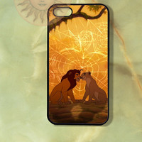 Nala and Simba Lion king -iPhone 5 case, iphone 4s case, iphone 4 case, Samsung GS3 case-Silicone Rubber or Hard Plastic Case, Phone cover