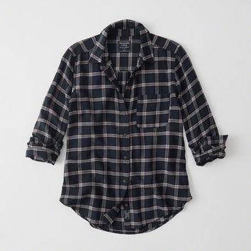 Womens Plaid Flannel Shirt | Womens New Arrivals | Abercrombie.com