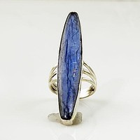 Kyanite Sterling Silver Ring - keja Jewelry