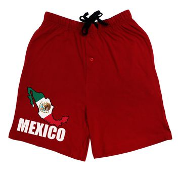 Mexico Outline - Mexican Flag - Mexico Text Adult Lounge Shorts  by TooLoud