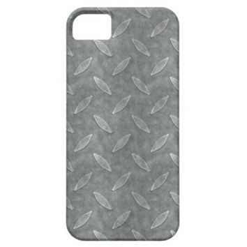 Masculine Manly Grungy Metal Diamond Plated Art iPhone 5 Case from Zazzle.com