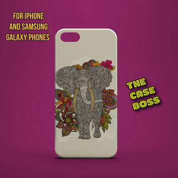 DECORATIVE ELEPHANT WALK Design Custom Phone Case for iPhone 6 6 Plus iPhone 5 5s 5c iphone 4 4s Samsung Galaxy S3 S4 S5 Note3 Note4 Fast!
