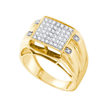 Micro Pave Diamond Ring in 10k Gold 0.5 ctw