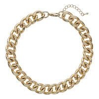 Gold Curb Chain Choker - New In This Week - New In - Topshop USA