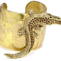 "EVOCATEUR ""Very Vintage"" 22k Gold-Leaf Cuff Bracelet - Like Love Buy"