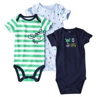 Just One You™ by Carter's® Infant Boys' 3-Pack Bodysuit - Navy/Green