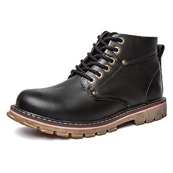 Men Boots Winter Men Shoes Genuine Leather Spring Autumn Ankle Boots for Men Rubber Sole Waterproof Working Boots