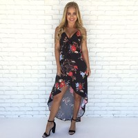 Late Luau Hi Low Maxi Dress