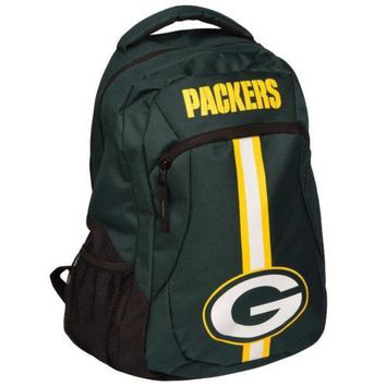 * Green Bay Packers Action Backpack Back Pack School Book Gym Bag