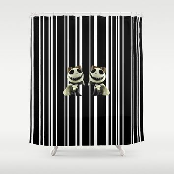 Halloween Prisoner | Jack | Christmas | Nigthmare Shower Curtain by Azima