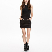 Black Sheath Sleeveless Mini Dress