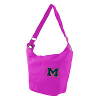 Michigan Wolverines NCAA Color Sheen Hobo (Pink)