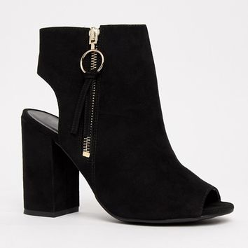 New Look Peep Toe Shoe Boot at asos.com