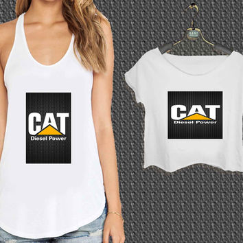 CAT Caterpillar Stain Pattern For Woman Tank Top , Man Tank Top / Crop Shirt, Sexy Shirt,Cropped Shirt,Crop Tshirt Women,Crop Shirt Women S, M, L, XL, 2XL*NP*