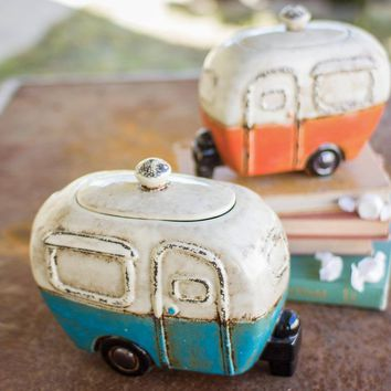 Ceramic Camper Canisters (Set of 2)