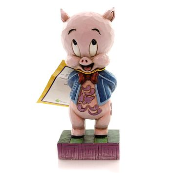 Jim Shore IT'S P-P-P-PORKY Polyresin Porky Pig Looney Tunes 4049385
