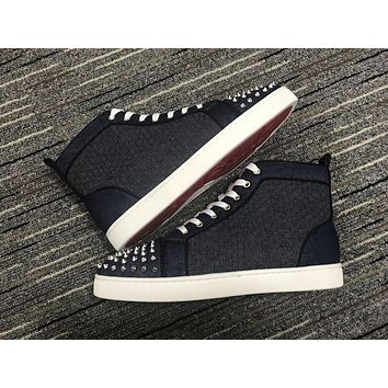 Christian Louboutin Cl Lou Spikes Orlato Sneakers Reference 130