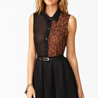 Wild Side Blouse - Black