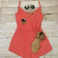 Coral romper from PeaceLove&Jewels