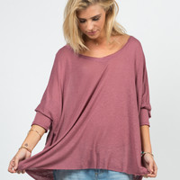 Sheer Loose Dolman Top