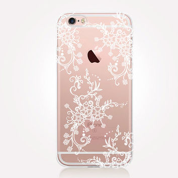 Transparent Lace Phone Case- Transparent Case - Clear Case - Transparent iPhone 6 - Transparent iPhone 5 - Transparent iPhone 4