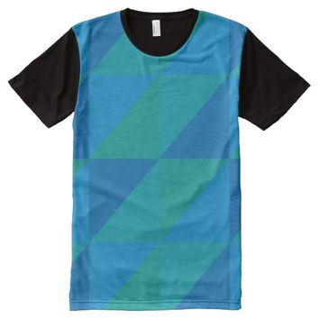 triangle colored abstract All-Over print t-shirt