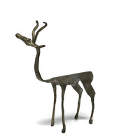 Modern Design Pewter Antelope Figurine Signed and Numbered