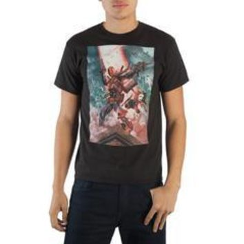 Deathstroke and Harley Quinn Men's T-shirt Tee Shirt