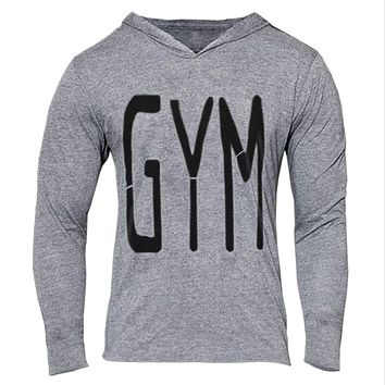 GYM men's hoodies Fitness Bodybuilding Sweatshirts