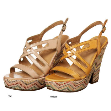 Fergie Colored Wedge Sandal (Small/Indie Brands)