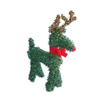 "5"" Rudolph the Red-Nosed Reindeer with Bow Artificial Pine Christmas Figurine"