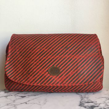 Gucci Striped Clutch
