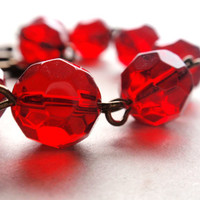 Red Glass Bracelet Berry