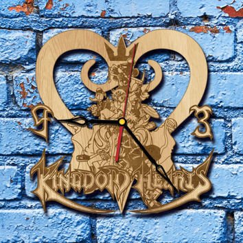 Kingdom Hearts Geekery Clock sora Birth by Sleep kingdom hearts art King Mickey organization 13 kingdom hearts cosplay keyblade Kairi Riku