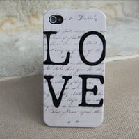 Art color shell love case for iphone 4/4s