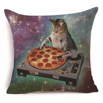 DJ Pizza Scratch Pillow