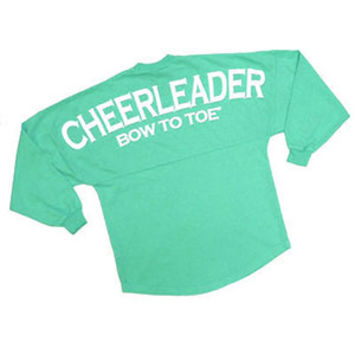 Spirit Football Jersey - CHEERLEADER Bow to Toe - Mint