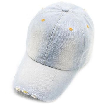 Sports Hat Cap trendy  Good Quality Baseball Caps Outdoor Newly Design Men Women Color Fading Style Demin Jeans Hat Unisex Outdoor  KO_16_1