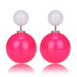 Gum Tee Mise en Style Tribal Earrings - Jelly Rose Pink & Jelly White