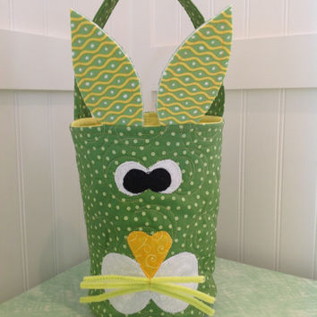 Easter Bunny Quilted Basket