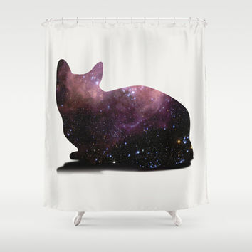 Willow the Galaxy Cat! Shower Curtain by All Is One