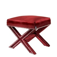 Red Fabric Stool | Eichholtz Perugia