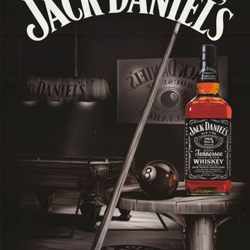 Jack Daniels Eight Ball Ad Poster 24x36