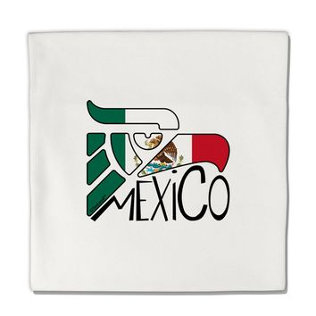 "Mexico Eagle Symbol - Mexican Flag - Mexico Micro Fleece 14""x14"" Pillow Sham by TooLoud"