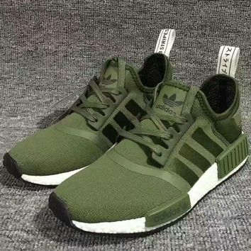 Adidas NMD Boost Casual Sports Shoes Army Green-1