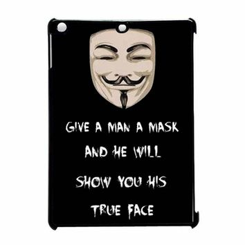 V Mask Guy Fawkes Anonymous 2 iPad Air Case